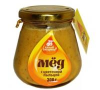 Мёд с пыльцой в стеклянной банке 300 г (Старовер)